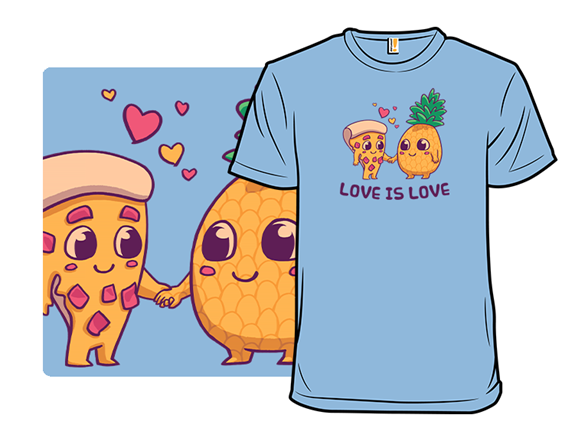 Pizza Pineapple Love T Shirt