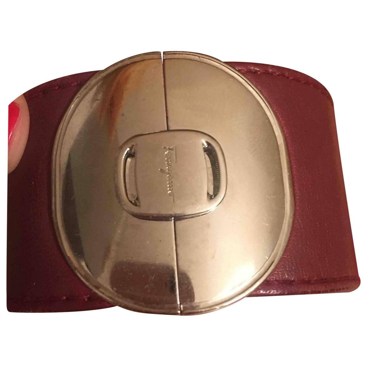 Salvatore Ferragamo \N Burgundy Leather bracelet for Women \N