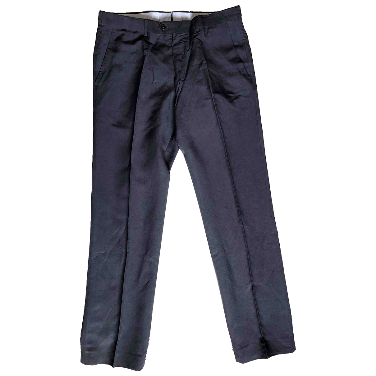 Lanvin \N Blue Linen Trousers for Men 48 IT