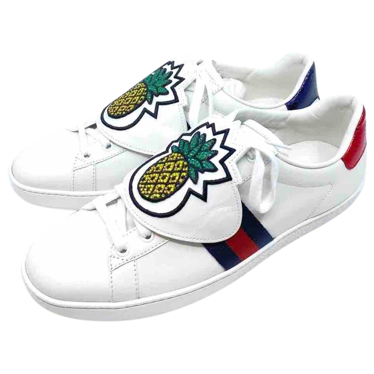 Gucci Ace White Leather Trainers for Women 38.5 EU