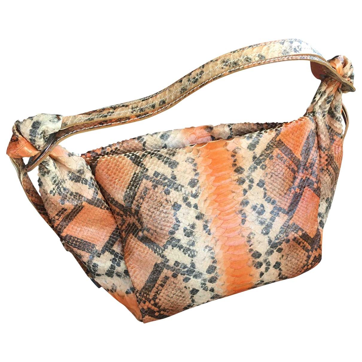 Non Signé / Unsigned \N Multicolour Python handbag for Women \N