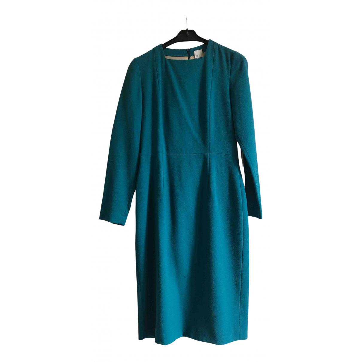 Cote \N Kleid in  Gruen Seide