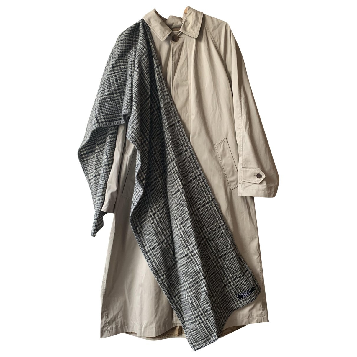 Balenciaga - Trench   pour femme en coton - beige