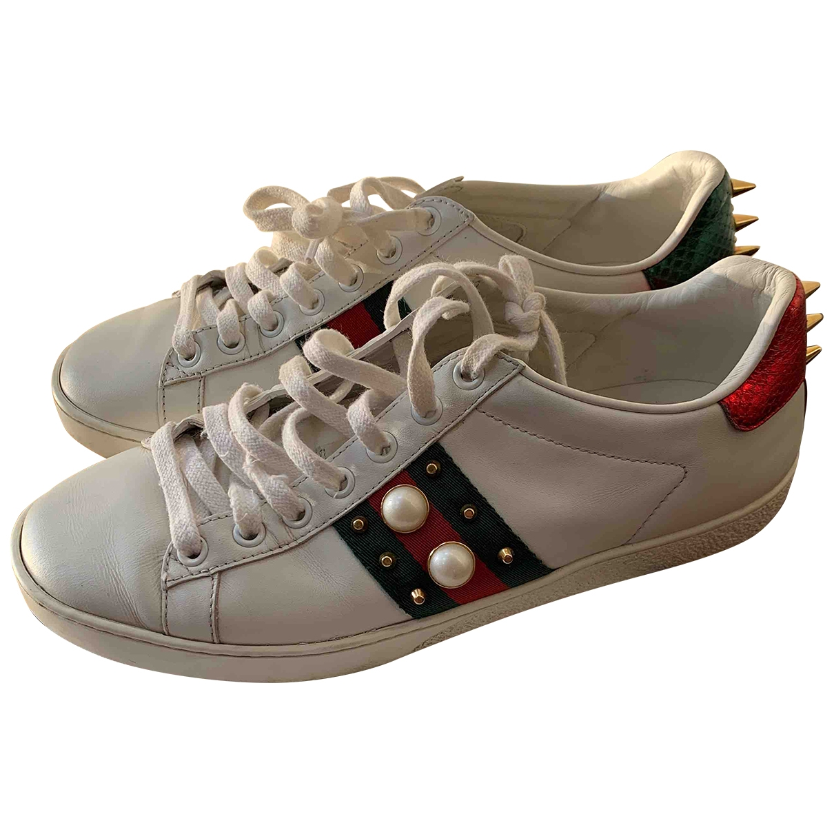 Gucci Ace White Leather Trainers for Women 37 EU