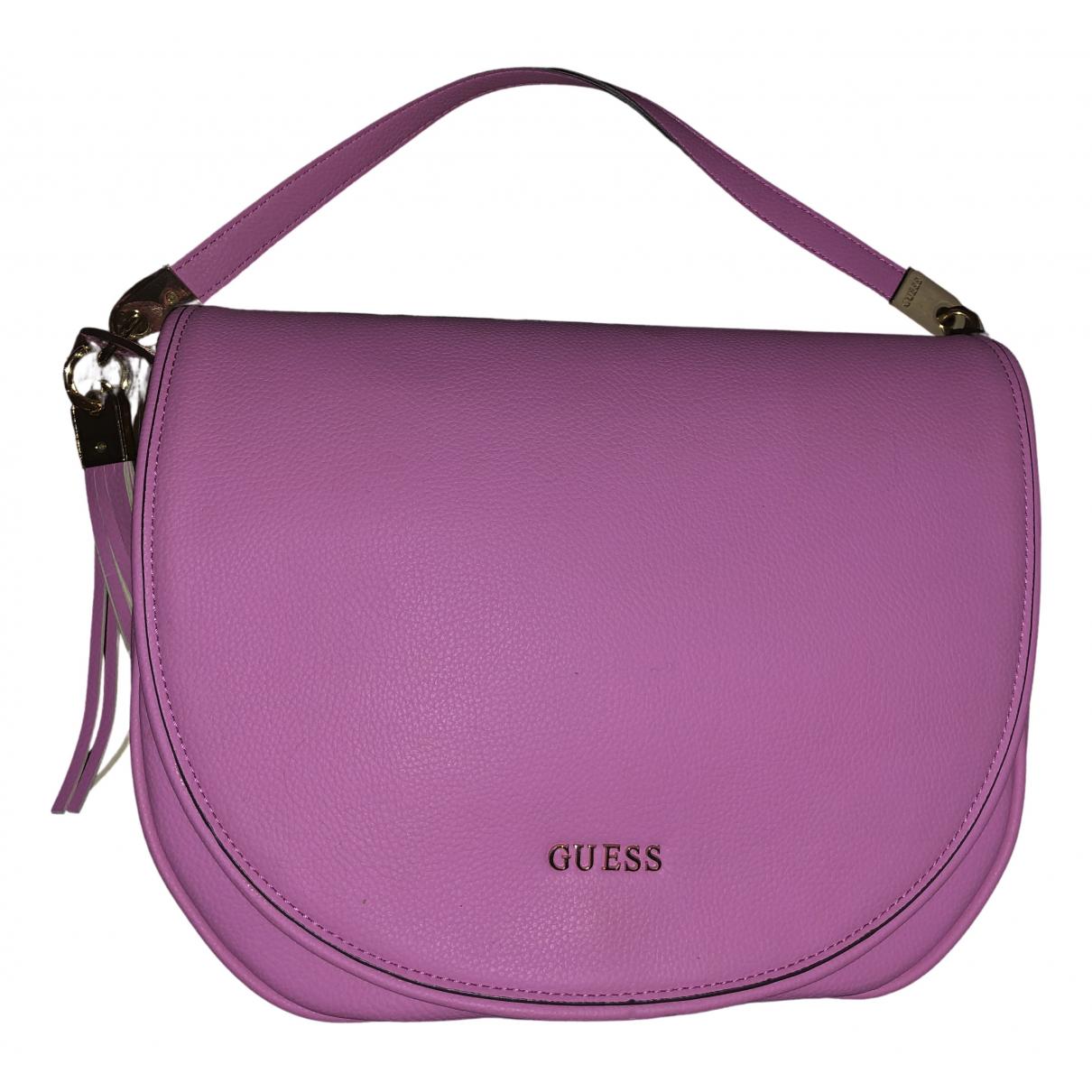 Guess \N Handtasche in  Rosa Kunststoff
