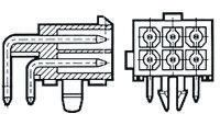TE Connectivity , Mini-Universal MATE-N-LOK, 4 Way, 2 Row, Right Angle PCB Header (5)