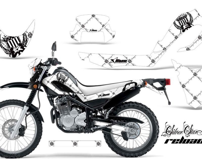 AMR Racing Dirt Bike Decal Graphic Kit MX Sticker Wrap For Yamaha XT250X 2006-2018áRELOADED BLACK WHITE