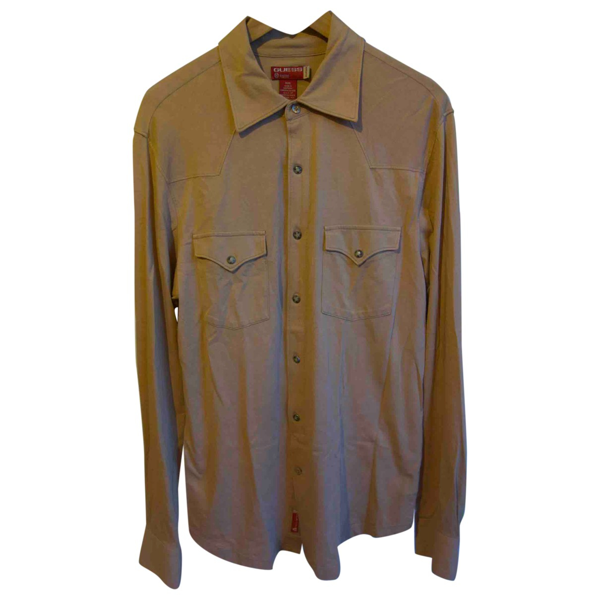 Guess \N Beige Cotton Shirts for Men M International
