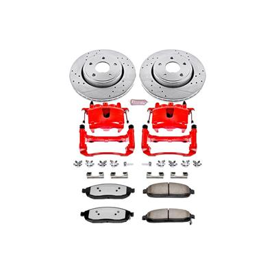 Power Stop Z36 Extreme Performance Truck & Tow 1-Click Front Brake Kit with Calipers - KC2219-36