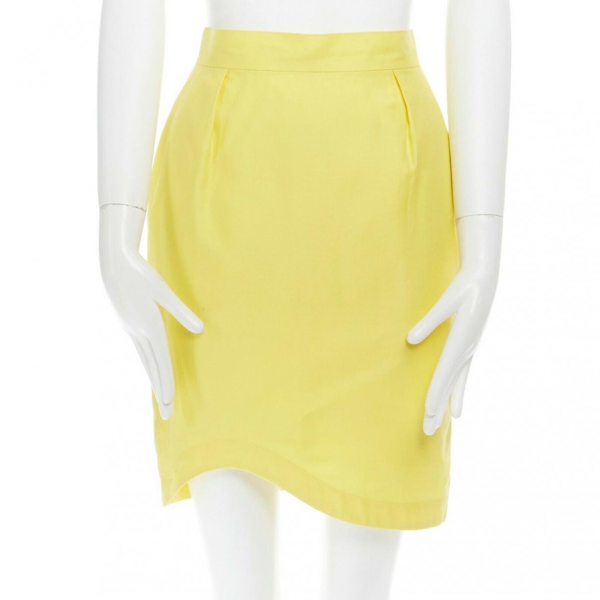 Thierry Mugler - Jupe   pour femme en coton - jaune