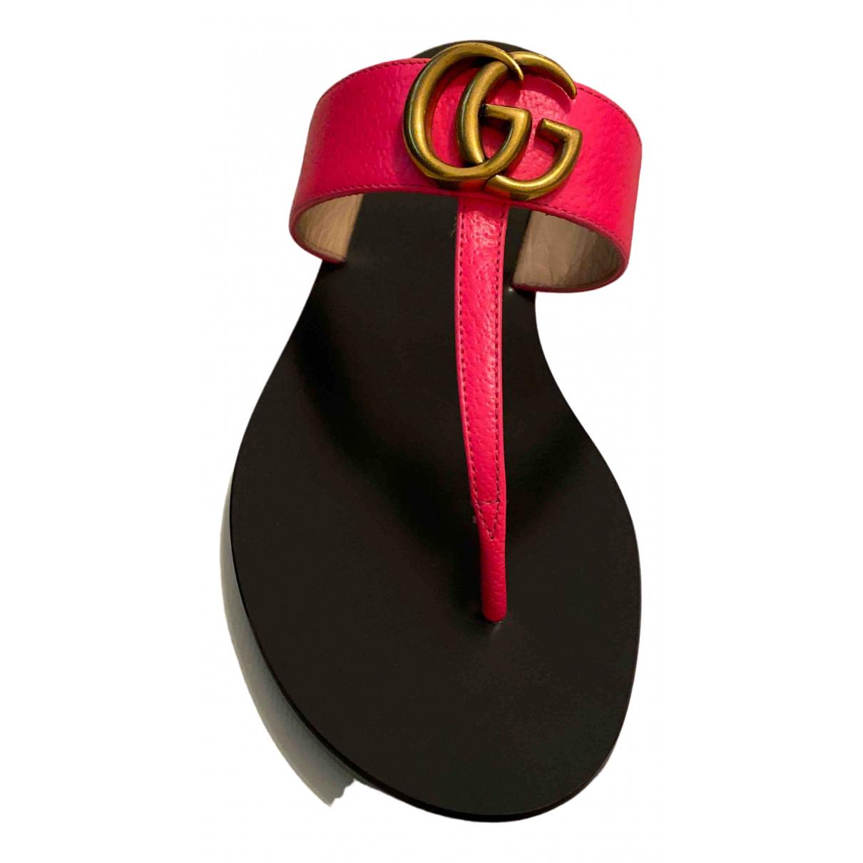Gucci - Sandales Marmont pour femme en cuir - rose