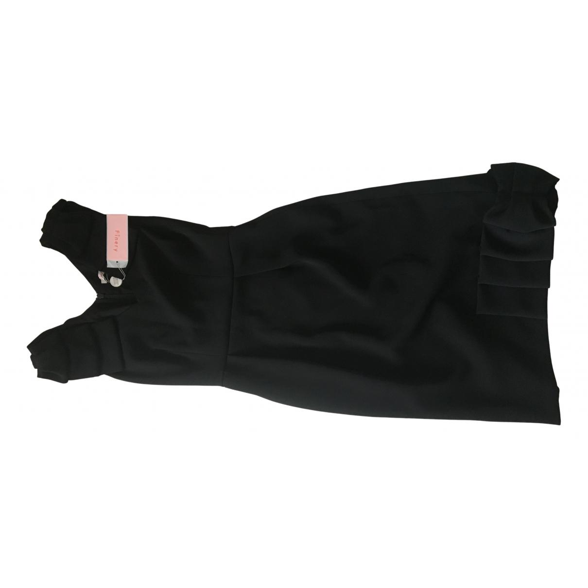 Finery \N Kleid in  Schwarz Polyester