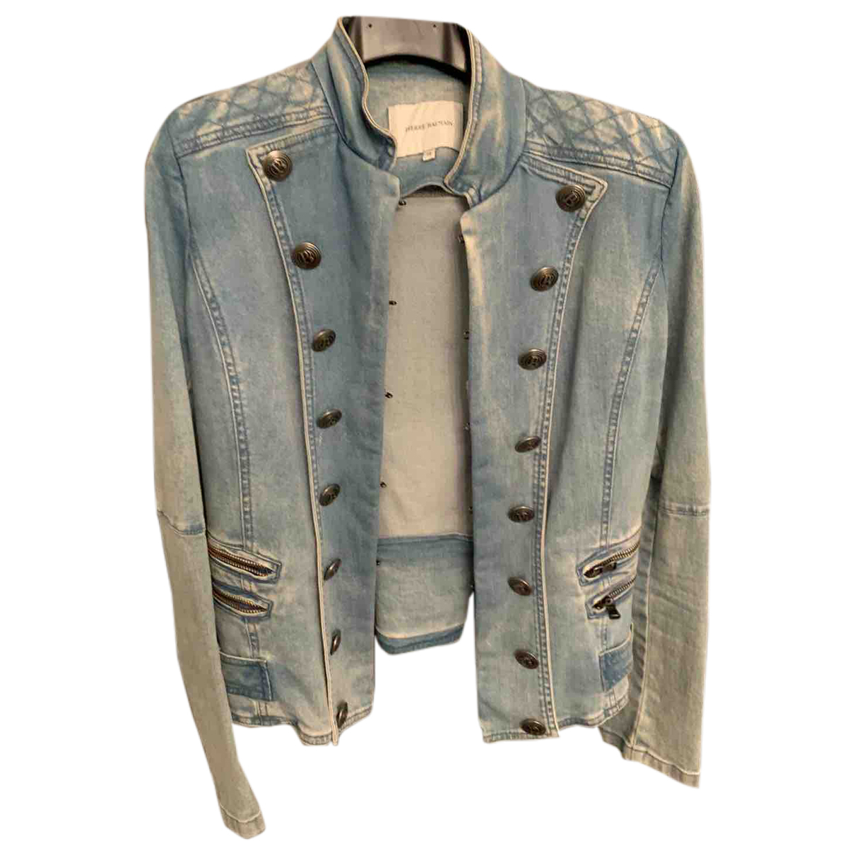 Pierre Balmain N Blue Denim - Jeans jacket for Women 36 IT