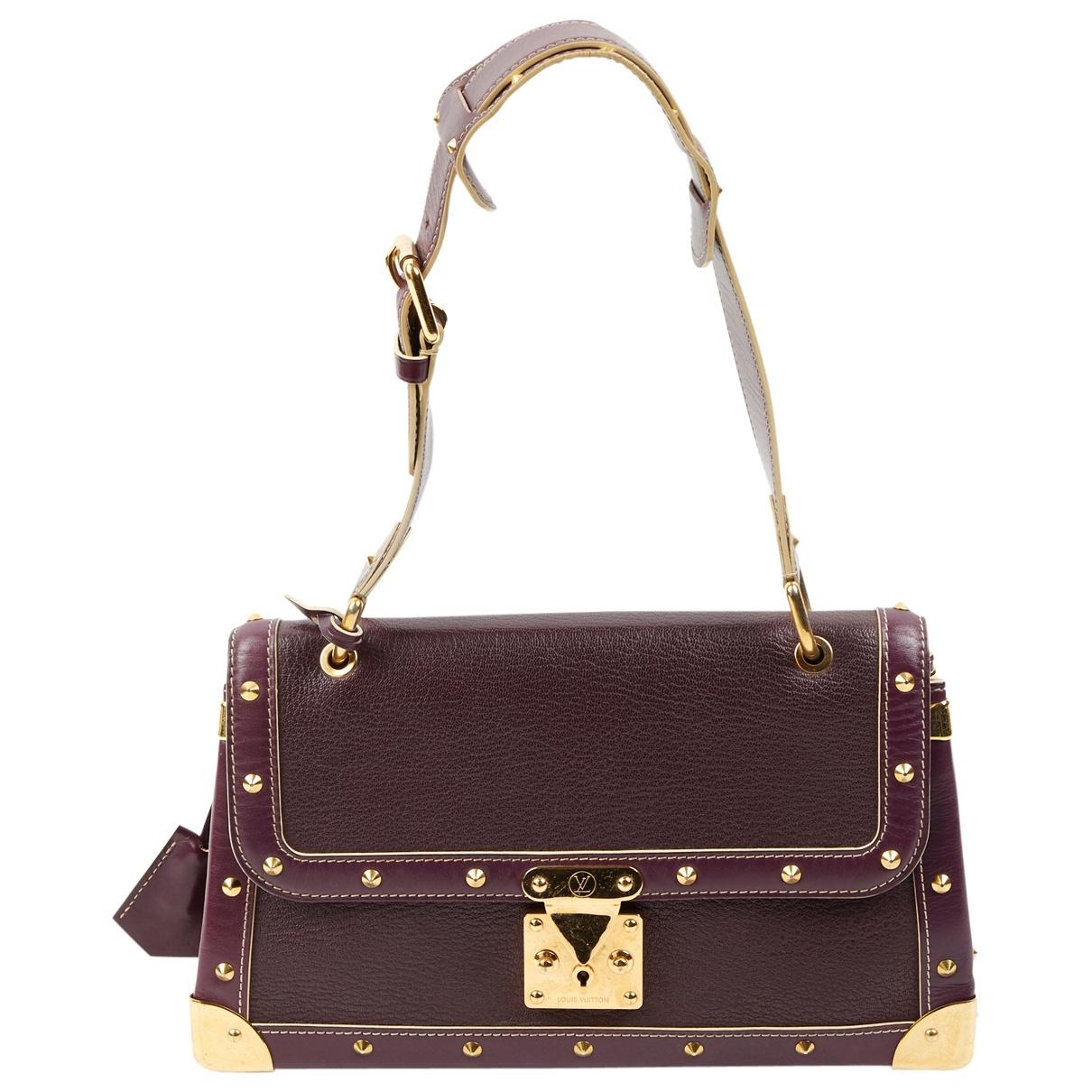 Louis Vuitton \N Purple Leather handbag for Women \N