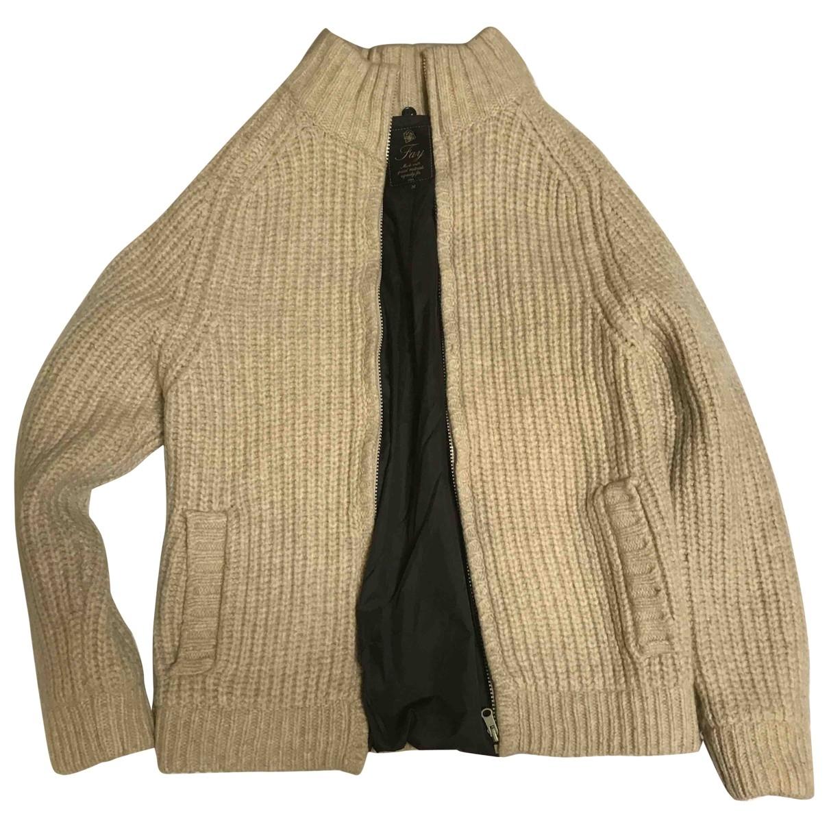 Fay - Pulls.Gilets.Sweats   pour homme en laine - beige