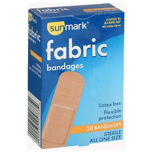Sunmark Fabric Bandages All One Size 30 each by Sunmark