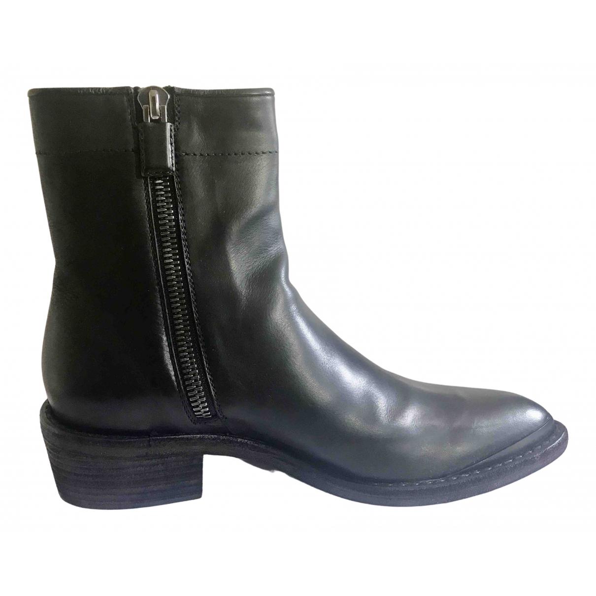 Haider Ackermann - Bottes.Boots   pour homme en cuir - noir
