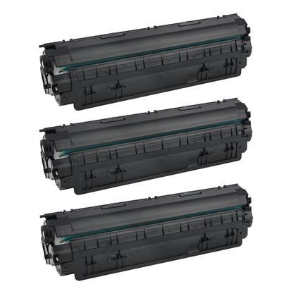 Compatible HP 85X CE285X Black Toner Cartridge - Economical Box - 3/Pack