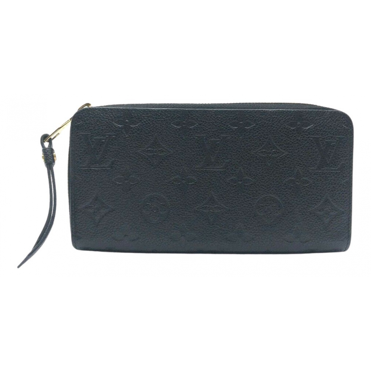 Louis Vuitton Zippy Portemonnaie in  Schwarz Leder
