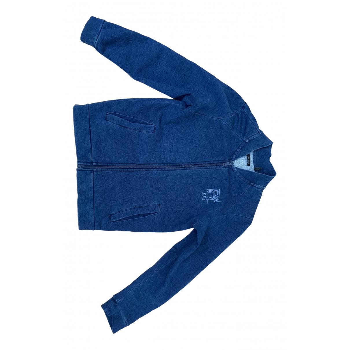 Ikks - Pull   pour enfant en coton - bleu