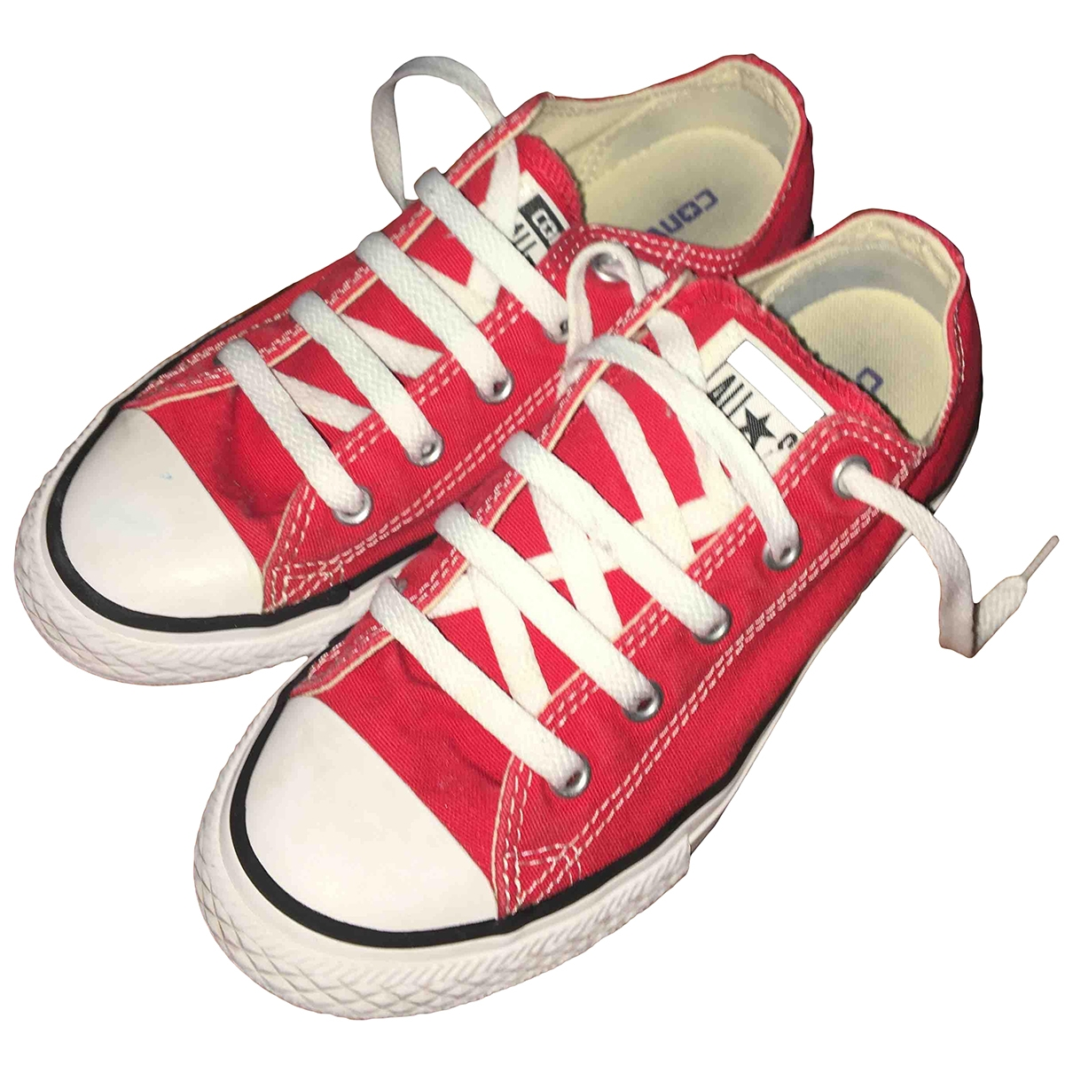 Converse \N Sneakers in  Rot Kautschuk