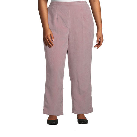 Alfred Dunner-Plus Short St Moritz Womens Straight Pull-On Pants, 22w , Pink