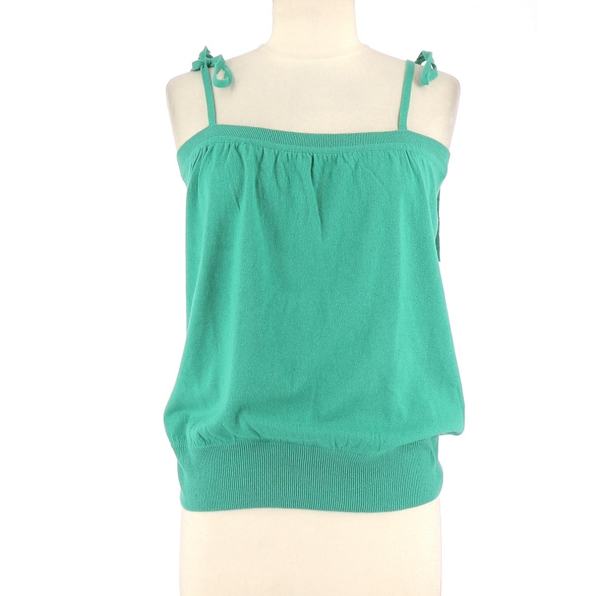 Eric Bompard - Top   pour femme en cachemire - vert