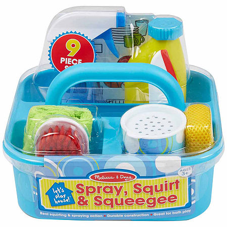 Melissa & Doug Let'S Play House Spray Squirt & Squeegee Play Set, One Size , Multiple Colors