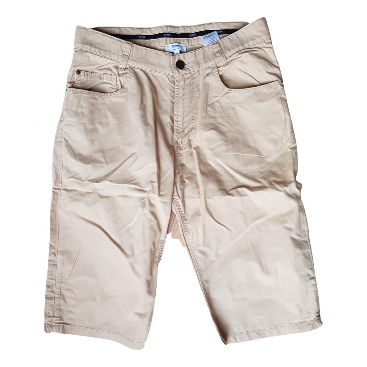 Boss - Short   pour enfant en coton - beige