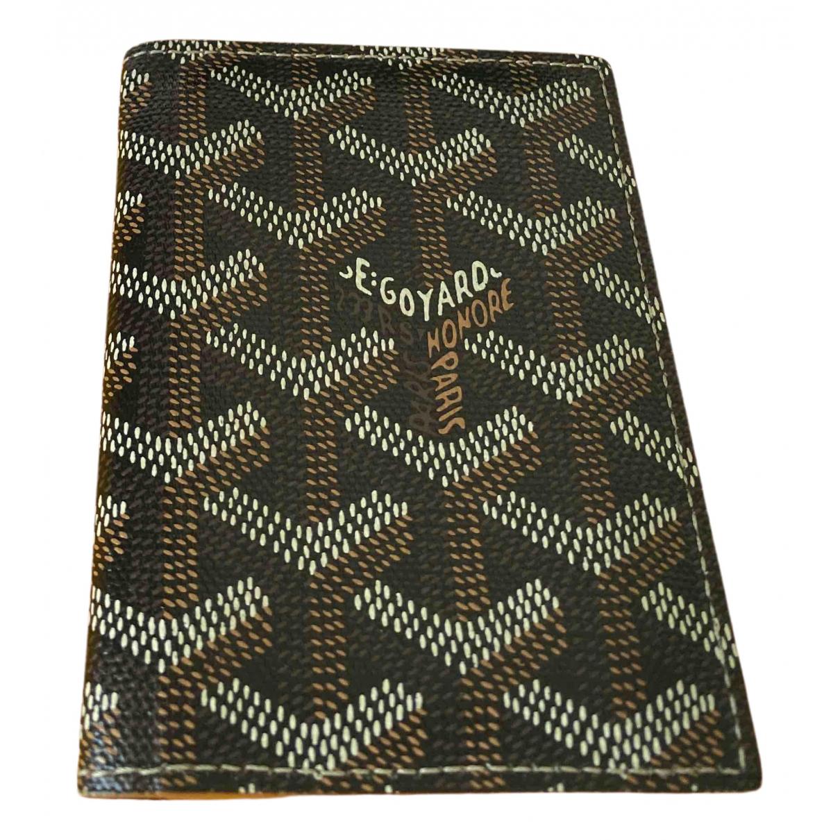 Goyard - Petite maroquinerie   pour homme en toile - marron