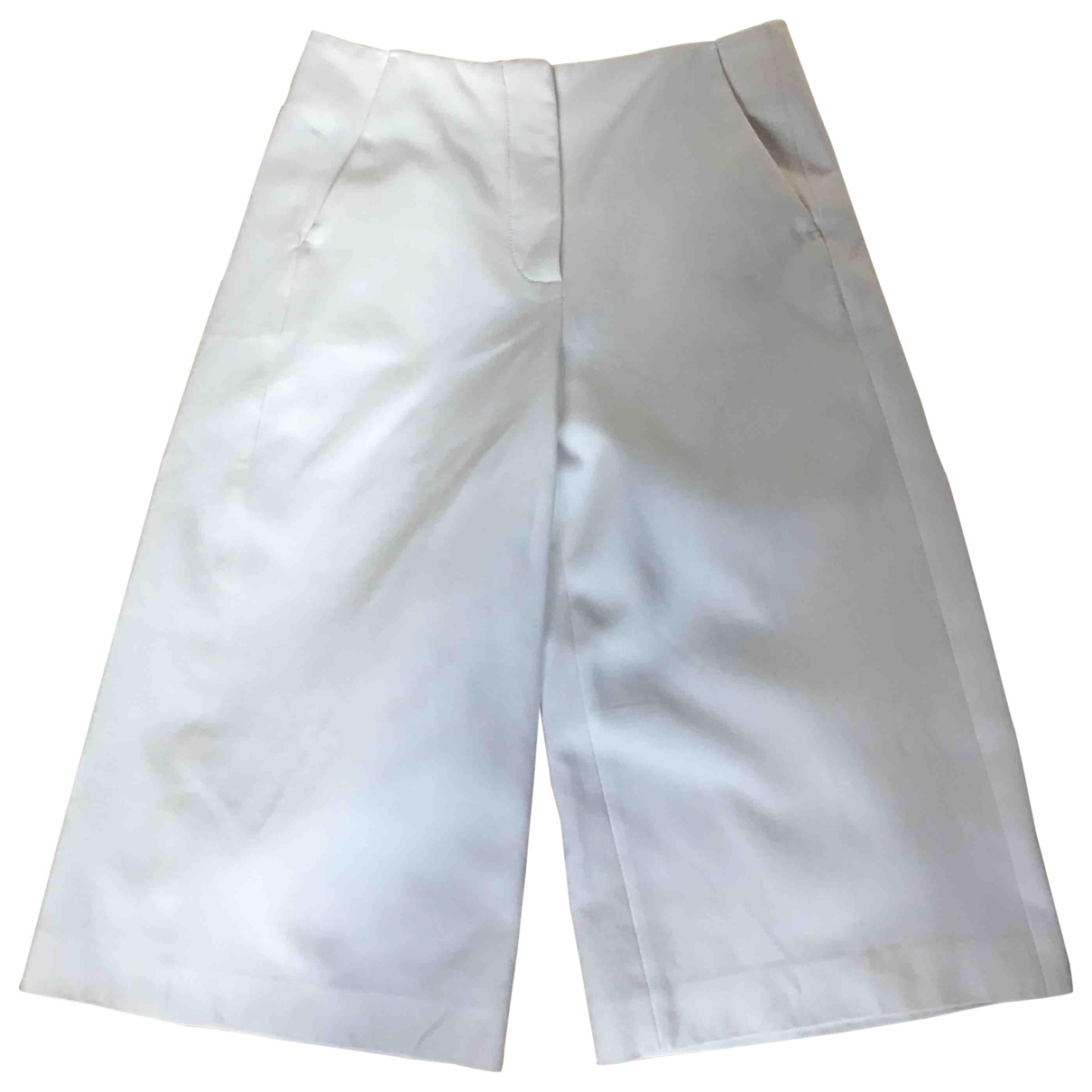 Cedric Charlier - Jupe   pour femme en coton - blanc