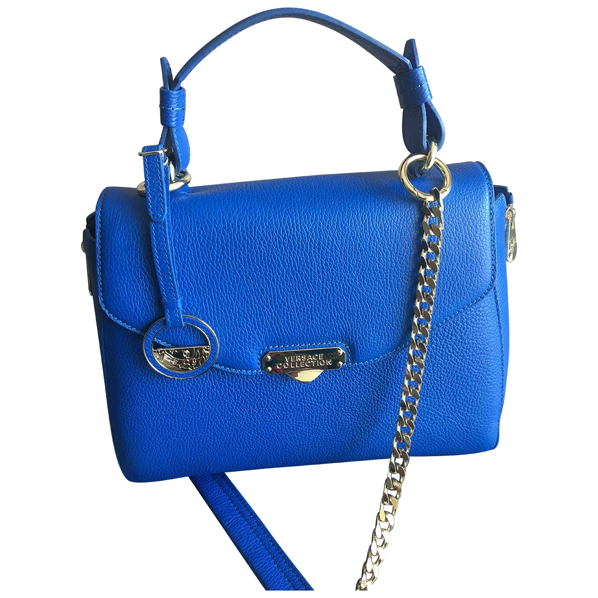 Versace \N Blue Leather handbag for Women \N