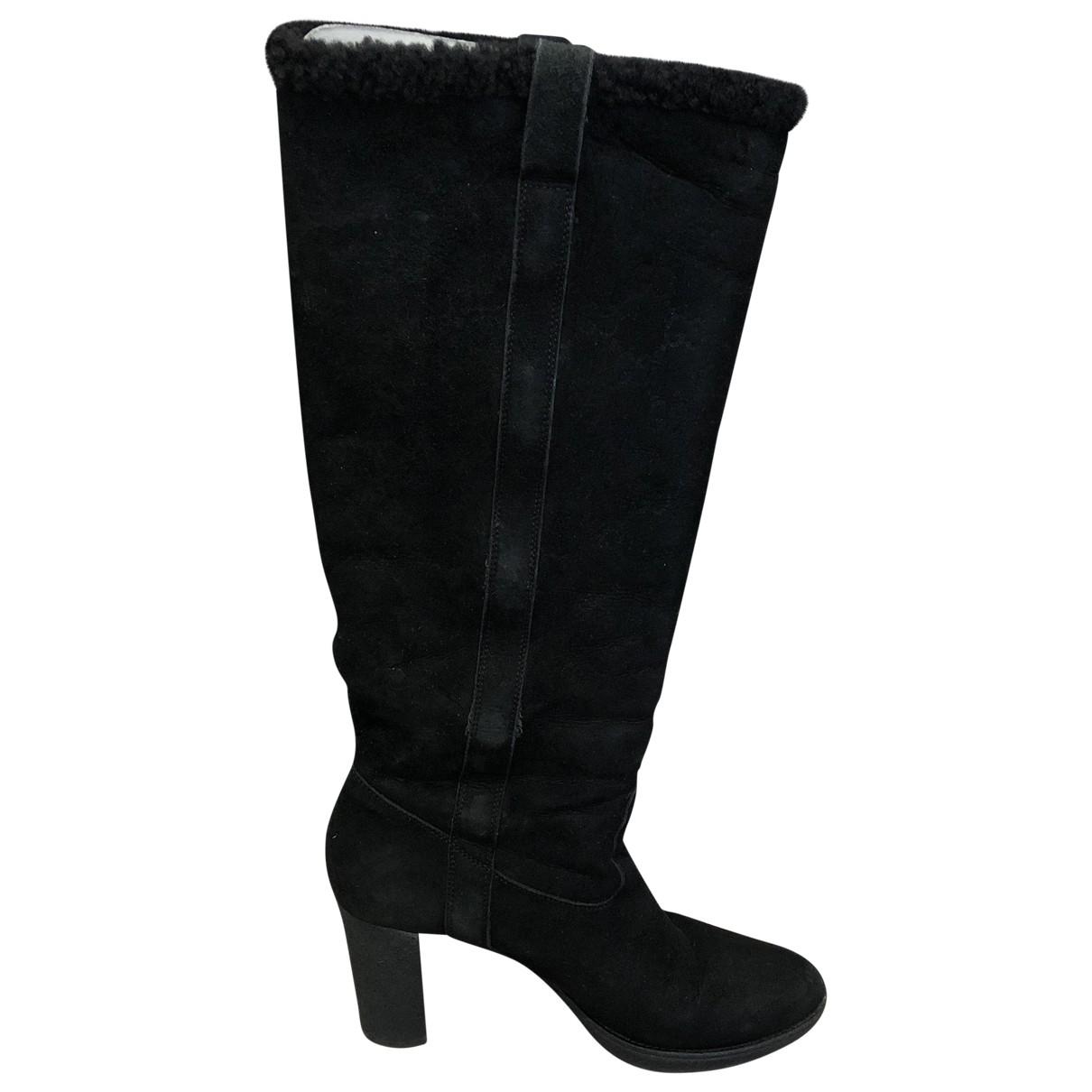 Gucci \N Black Shearling Boots for Women 38 EU