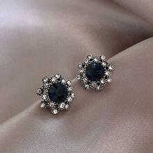 Pendientes con diamante de imitacion