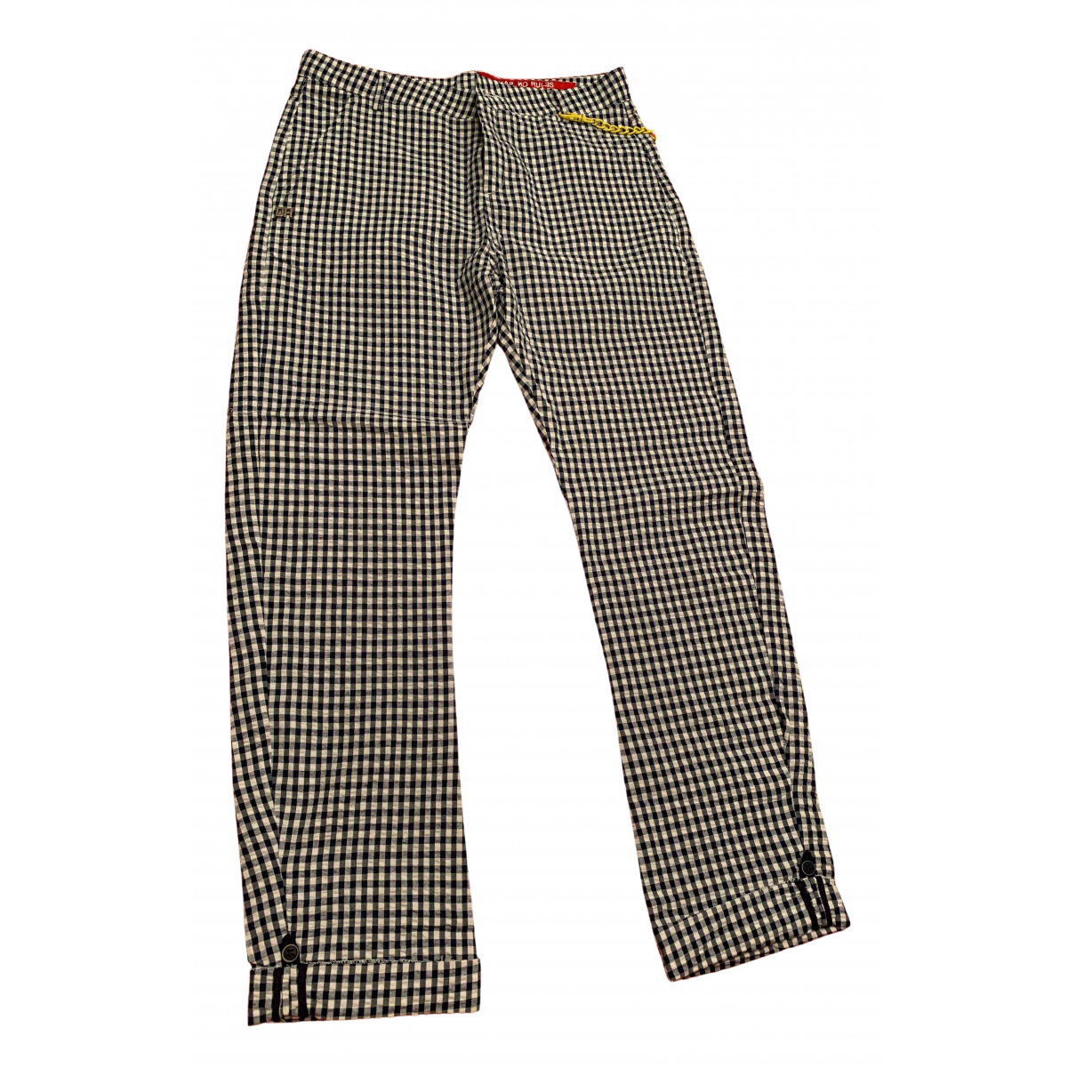 Daniele Alessandrini N White Cotton Trousers for Kids 14 years - S FR