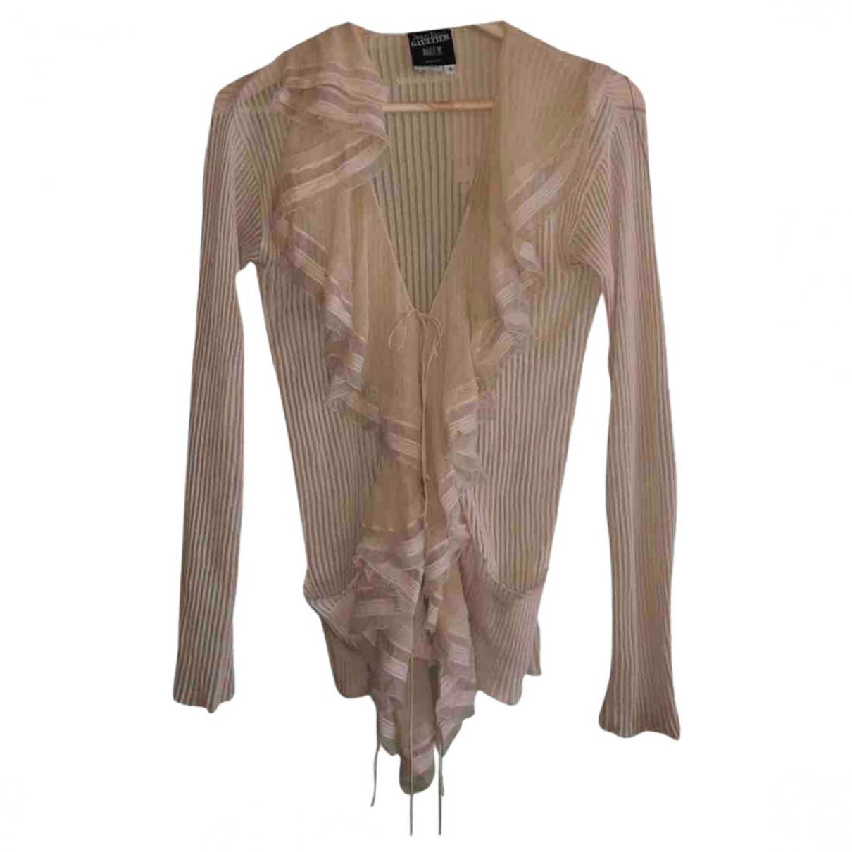 Jean Paul Gaultier - Pull   pour femme en coton - beige