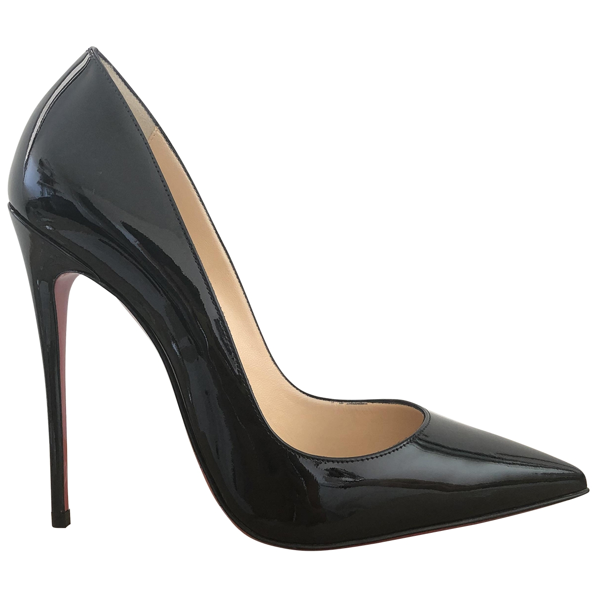 Christian Louboutin So Kate  Black Patent leather Heels for Women 38 EU