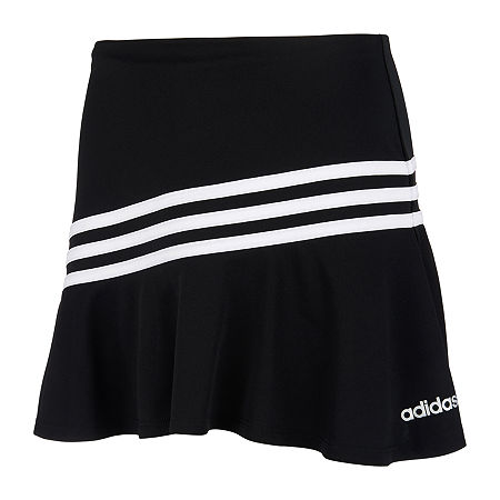 adidas Big Girls Mid Rise Scooter Skirt, Large (14) , Black