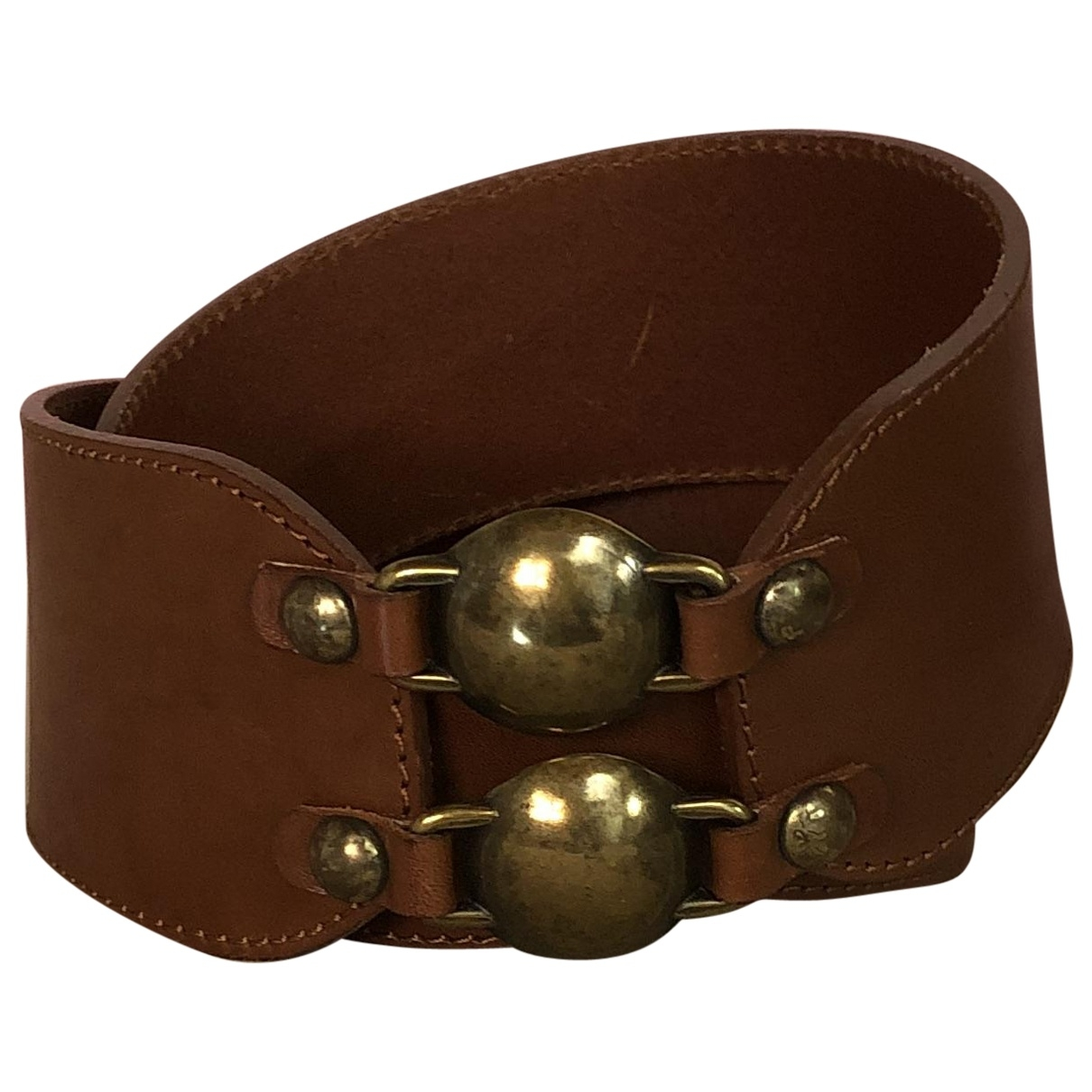Max & Co \N Brown Leather belt for Women 80 cm
