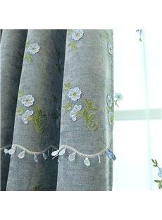 Elegant Princess Floral Blackout Custom Curtain For Living Room and Bedroom