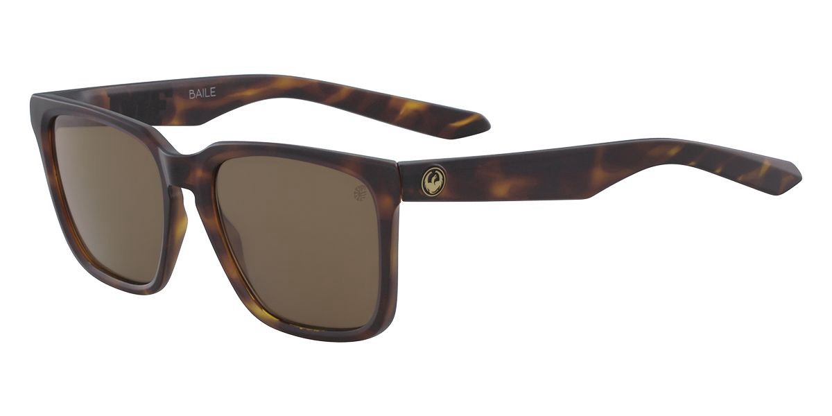 Dragon Alliance DR BAILE LL Polarized 245 Mens Sunglasses Tortoise Size 54