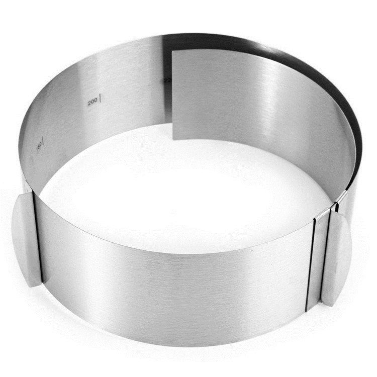 Retractable Circle Mousse Ring Mould Baking Tool Stainless Steel Cake Mold Size Adjustable Bakeware