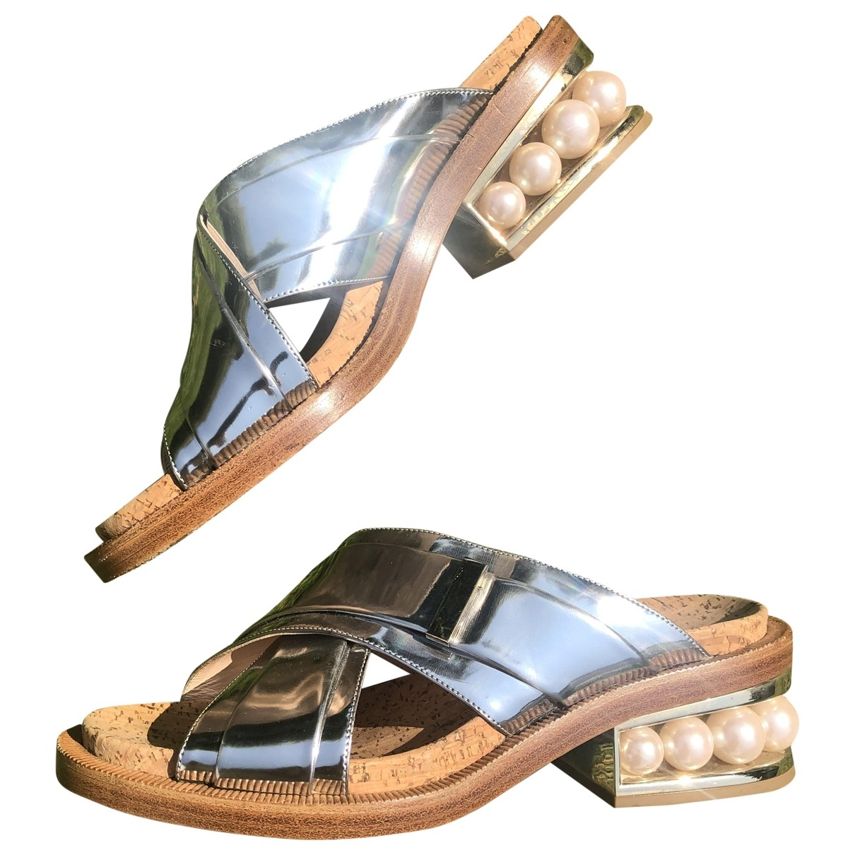 Nicholas Kirkwood \N Sandalen in  Metallic Leder