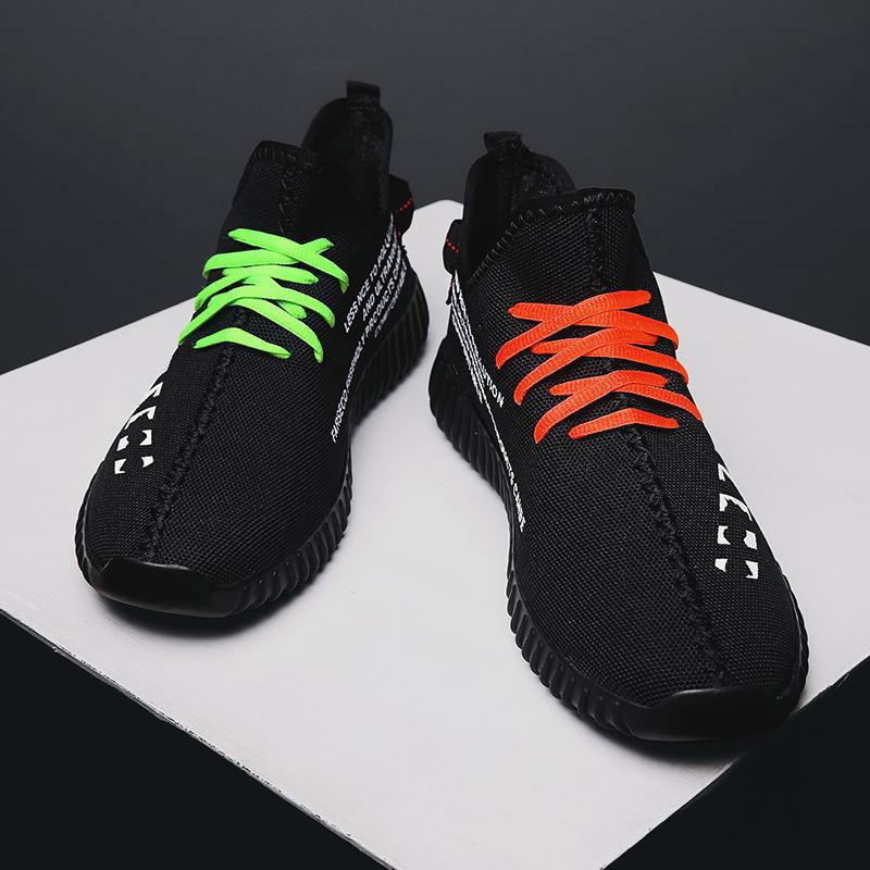 Ericdress Mesh Lace-Up Color Block Men's Outdoor Sneakers
