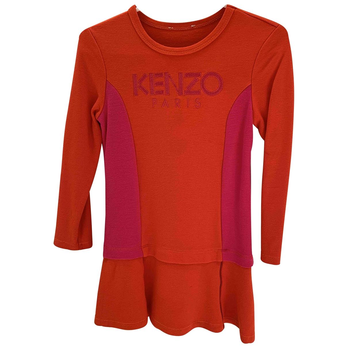 Kenzo - Robe    pour enfant en coton - rouge
