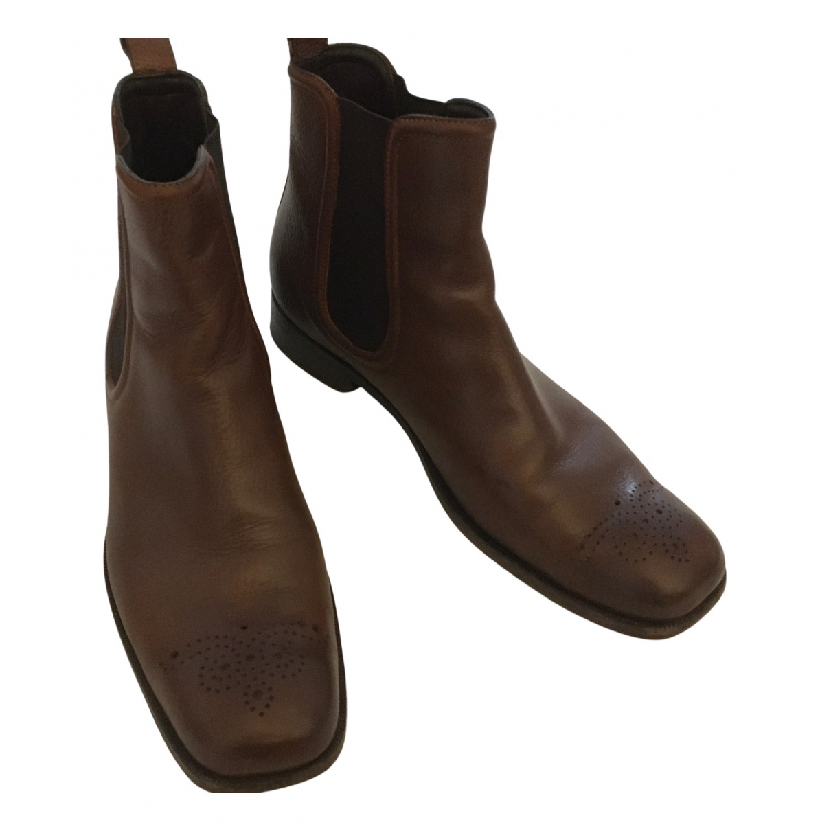 Bottega Veneta - Boots   pour femme en cuir - marron