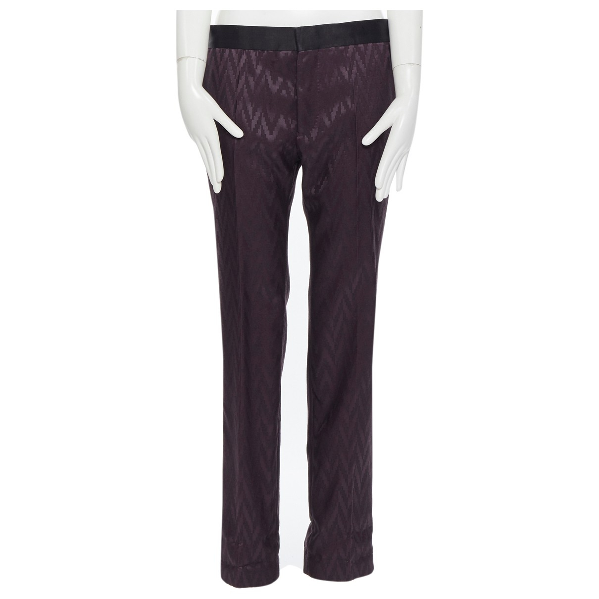 Haider Ackermann \N Purple Wool Trousers for Women 38 FR
