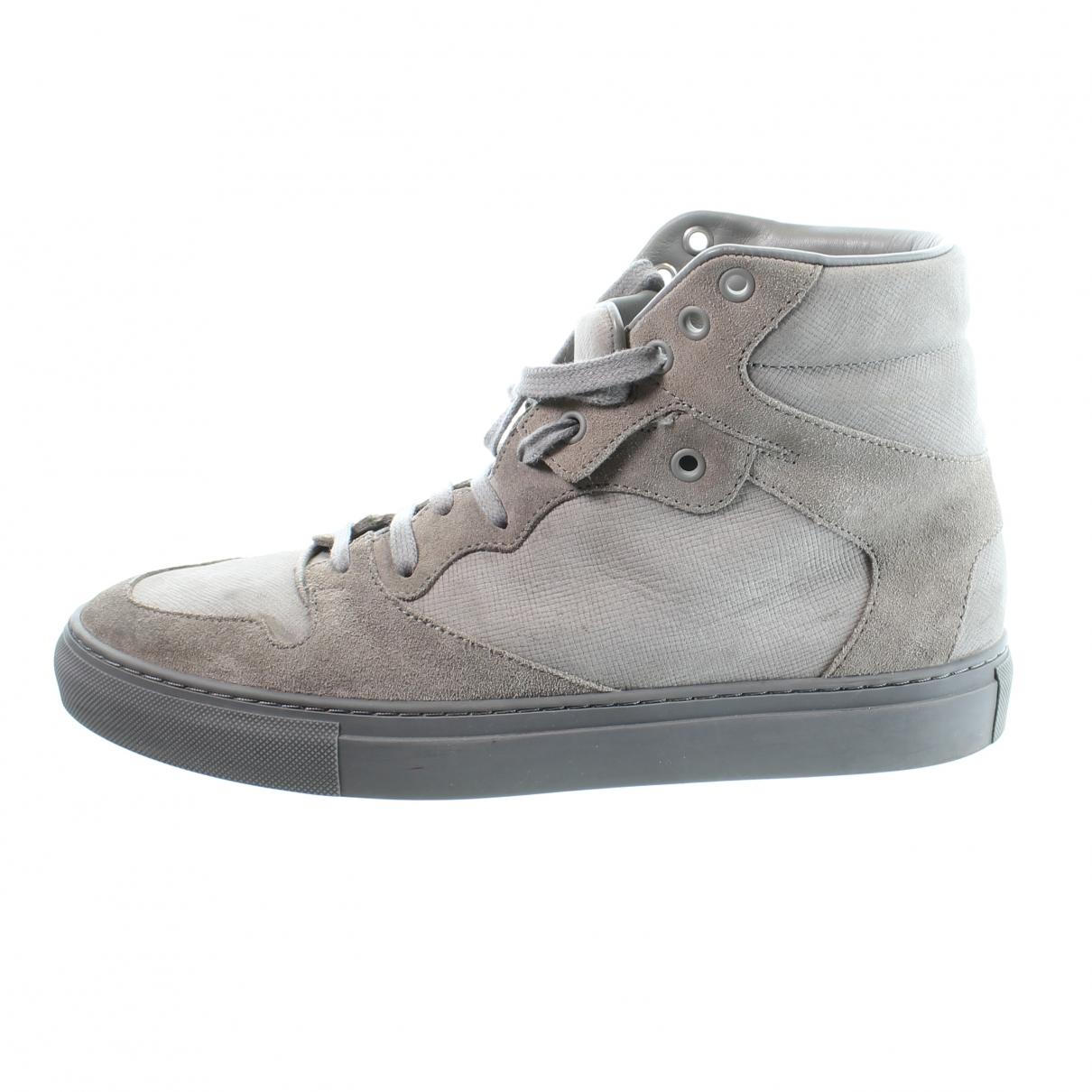 Balenciaga - Bottes.Boots   pour homme en suede - gris