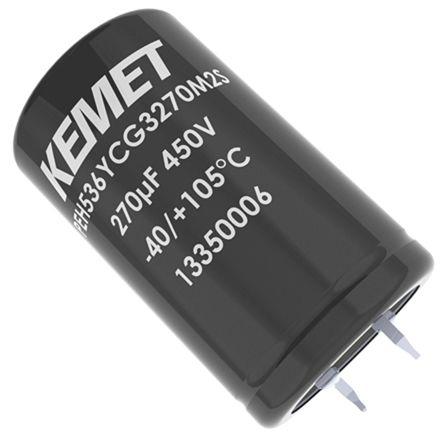 KEMET 150μF Electrolytic Capacitor 450V dc, Snap-In - PEH536YBF3150M3