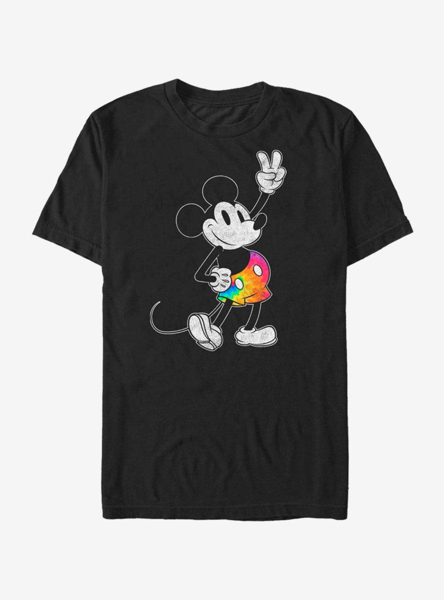 Disney Mickey Mouse Tie Dye Mickey Stroked T-Shirt